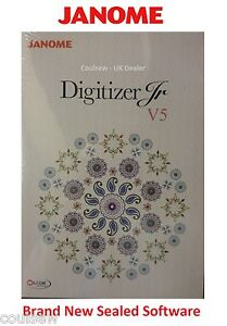 Genuine Janome Digitizer JR Embroidery Software Version 5 Latest UK Version 5.0