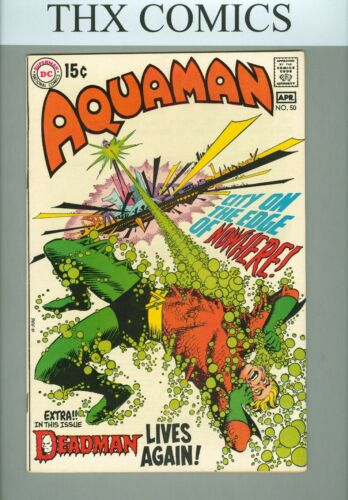 AQUAMAN #50 (DC Comics, 1970)~B1~NEAL ADAMS DEADMAN~SILVER AGE COMIC~FN/VF 7.0