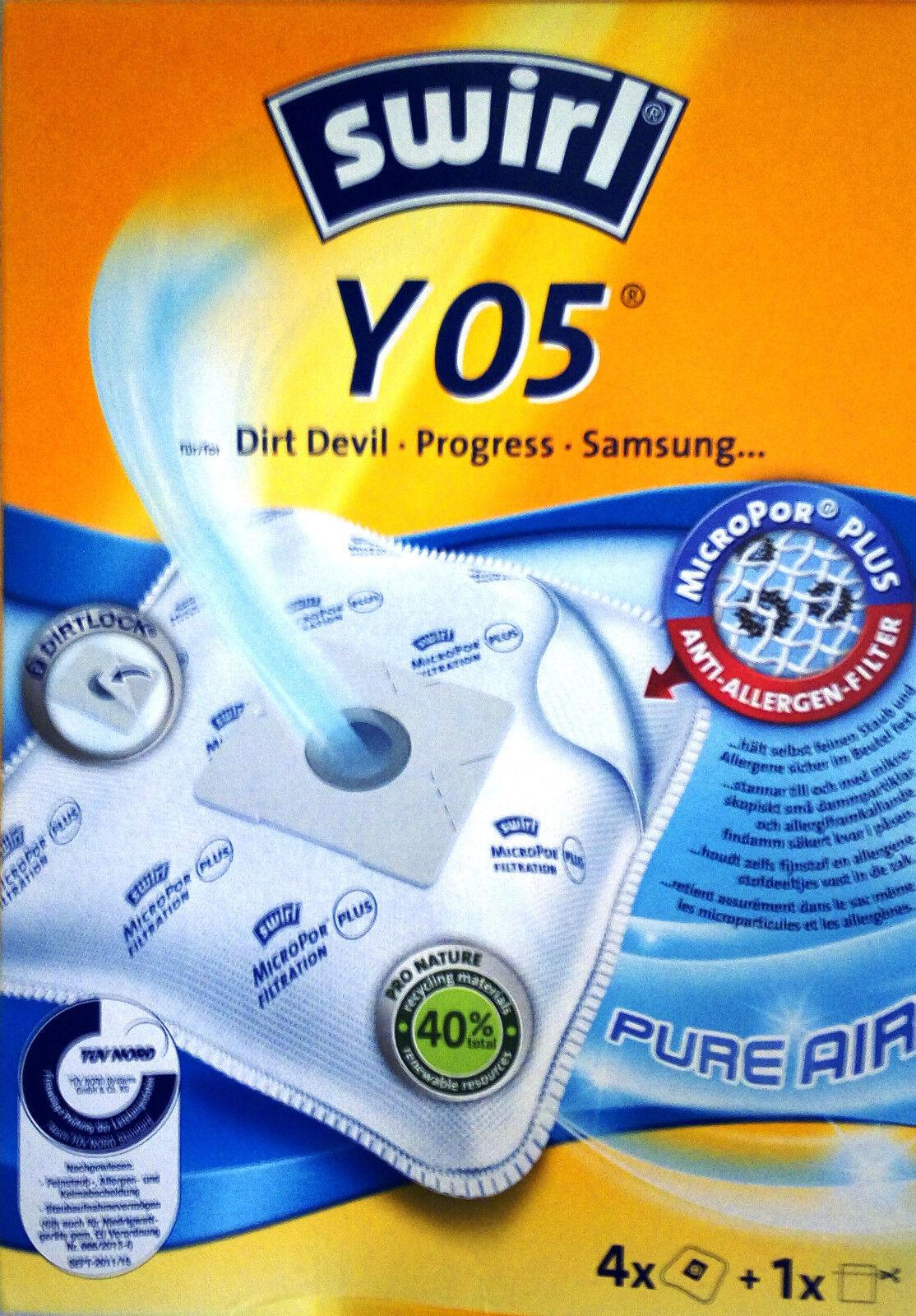 PureAir Y 95 10 Staubsaugerbeutel kompatibel zu Swirl Y 93 AirSpace