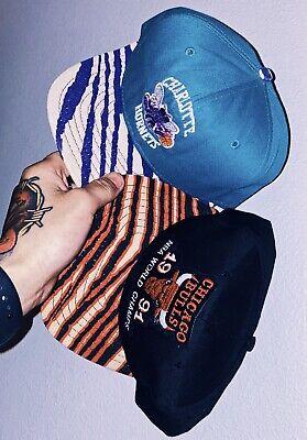 Vintage OG 90's Snapback Lot 2 Charlotte Hornets Chicago Bulls Zubaz AJD Jordan