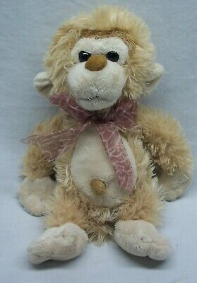 Animal Alley CUTE SOFT TAN MONKEY WITH BOW 10