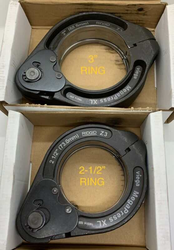 "3"" & 2-1/2"" Set Viega MegaPress XL Ring Jaws Only For Booster Tool 60848 & 60843"