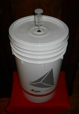 BUCKET 6.5 GALLON PRIMARY FERMENTER w/ LID+AIRLOCK HOME BREWING BEER WINE KIT