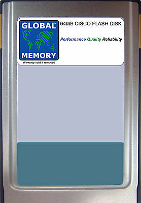 Flash Memory 7500 Series - 64MB FLASH CARD MEMORY FOR CISCO 7500 SERIES ROUTERS RSP 8 ( MEM-RSP8-FLD64M )