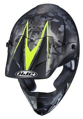 HJC CS-MX2 Motocross Helmet Sapir Camo HI-VIZ L LG Large ATV CSMX CS-MX II