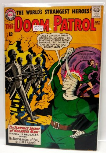 #87  DOOM PATROL 1960s DC Comic Book- VF  (DP-87)