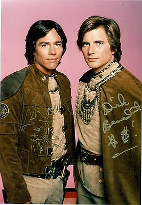 Dirk Benedict   Richard Hatch Of Battlestar Galactica  8 X 10 Autograph Reprint