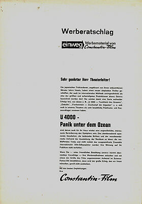 Werberatschlag:  U 4000 - Panik unter dem Ozean gebraucht kaufen  Deutschland