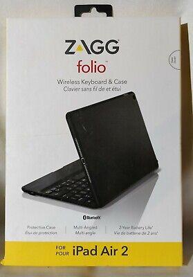 ZAGG Folio Ipad Air 2 Wireless Keyboard and Case Bluetooth slim ID6ZF2-BB0-R3