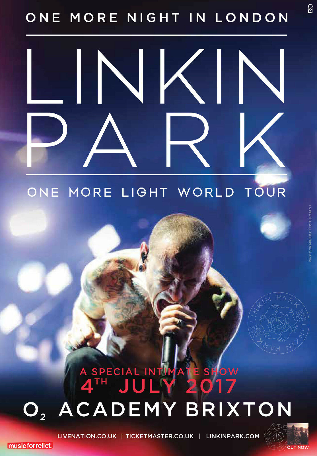 LINKIN PARK ONE MORE NIGHT IN LONDON 2017 UK CONCERT TOUR POSTER - Nu Metal - $11.99