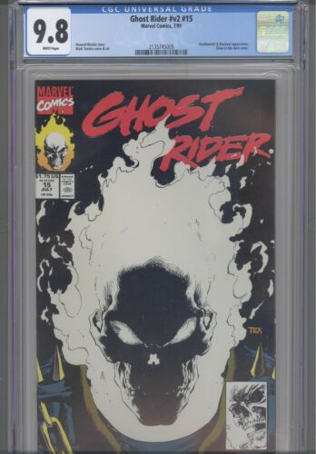 Ghost Rider #v2 #15 CGC 9.8 1991 Marvel 1st Print, Glow-in-Dark Cover: New Frame