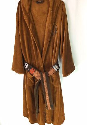 Star Wars Bathrobe ( Robe Factory STAR WARS Jedi Brown Fleece Belted Hoodie Bathrobe Adult ONE)
