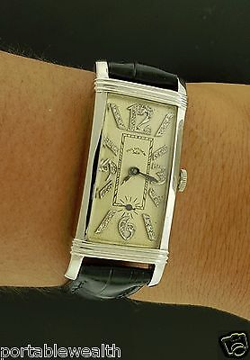 Paul Ditisheim Solvil Platinum Wrist Watch 17j Vintage Rare Numbers Vintage