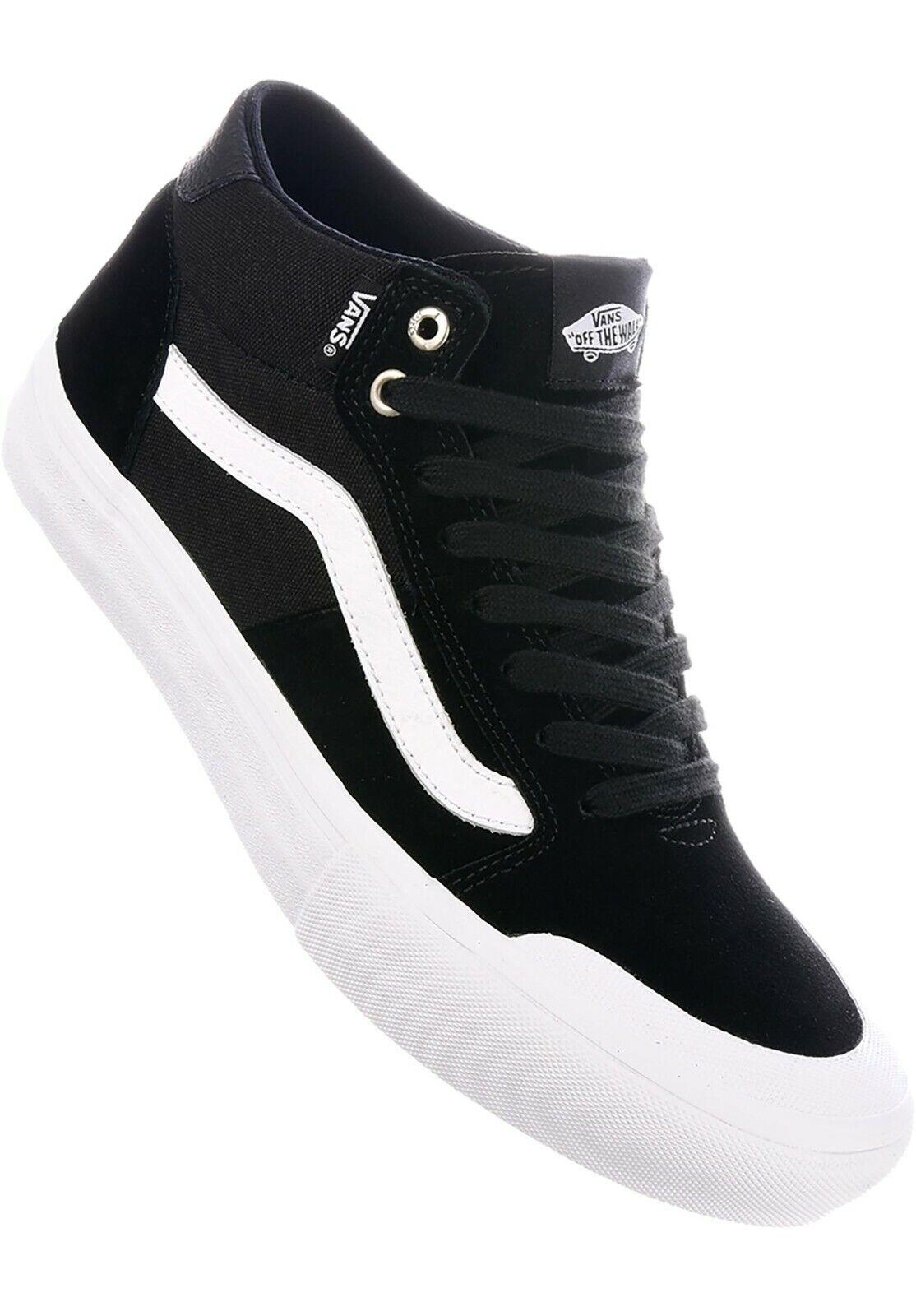 Vans Style 112 Mid Pro Black/White Men's Classic Skate Shoes