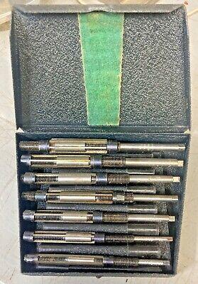 L.o. Beard Usa 7pc Adjustable Hand Reamer Set 14 To 1532 Straight Blade Hss