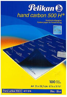 Carta A4 Ricalco Carbone 2 fg 21x29 Blu Pellikan Copiativa Hand Carbon 500 H