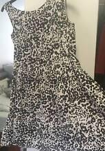 Marcs Short Black/Offwhite Leopard Print Dress Size 14 Caulfield Glen Eira Area Preview