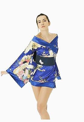 Adult Geisha Girl Costume Japanese Chinese Oriental Kimono Ladies Fancy Dress