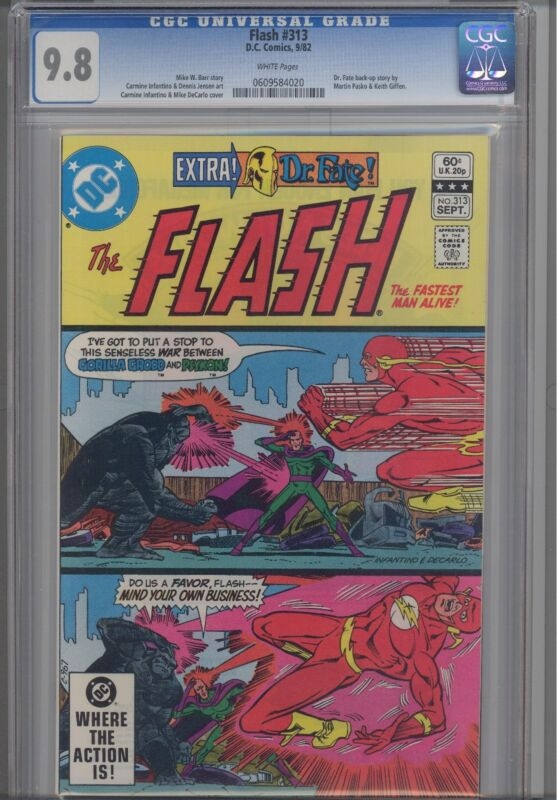 Flash #313 CGC 9.8 1982 DC  Comic rare 2 panel cover: Make an Offer!
