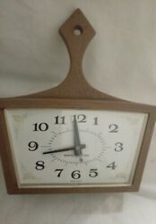 VTG GENERAL ELECTRIC MID-CENTURY SKILLET PAN KITCHEN WALL CLOCK - MODEL 2155