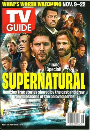 TV GUIDE-11/2020-SUPERNATURAL-JENSEN ACKLES-JARED PADALECKI-FINALE SPECIAL!