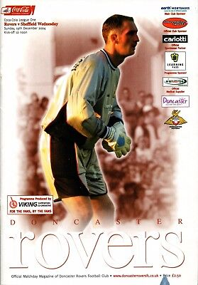 B18 Doncaster Rovers v Sheffield Wednesday 19/12/04 League 1