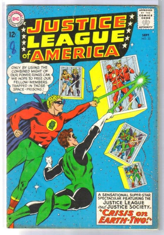 JUSTICE LEAGUE of AMERICA #22 Crisis on Earth-Two! DC Comic Book ~ VG