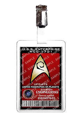 Star Trek Engineering Division Starfleet ID Badge Cosplay Prop Costume Comic Con