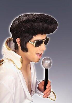 Adult 60s 70s Black Rock N Roll Elvis Presley Costume Wig