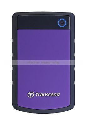 Transcend Purple Ext HDD 2TB 2T StoreJet 25H3 SJ USB3.0 External Hard Disk New