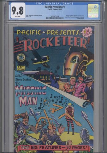 Pacific Presents #1 CGC 9.8 1982 Pacific Comic Rocketeer Movie: NEW CGC Frame