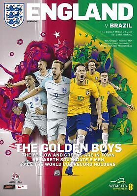 ENGLAND v BRAZIL (International  FRIENDLY) - Match Day Programme - 14th Nov 2017