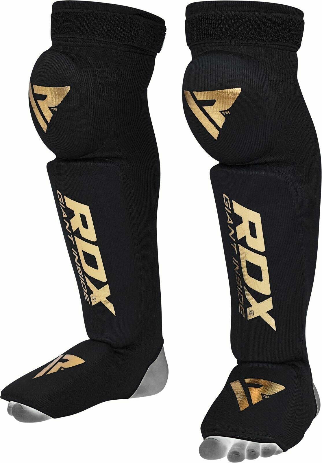 RDX Shin Guards Instep Foam Pad Boxing Knee Support Leg MMA