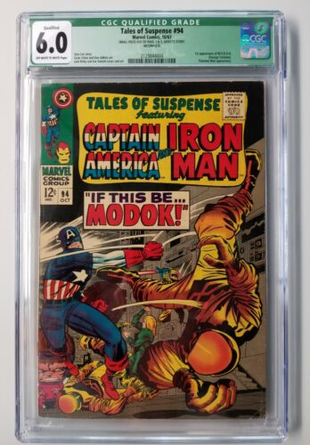 TALES OF SUSPENSE #94 CGC 6.0 QUALIFIED  - 1ST APPEARANCE OF  M.O.D.O.K