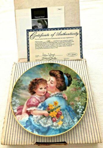 Brenda Burke Treasured Kisses Collector Plate Mother Child Mothers Day MIB COA