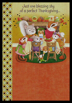1007-MSA Squirrel Birthday Greeting Card NEW