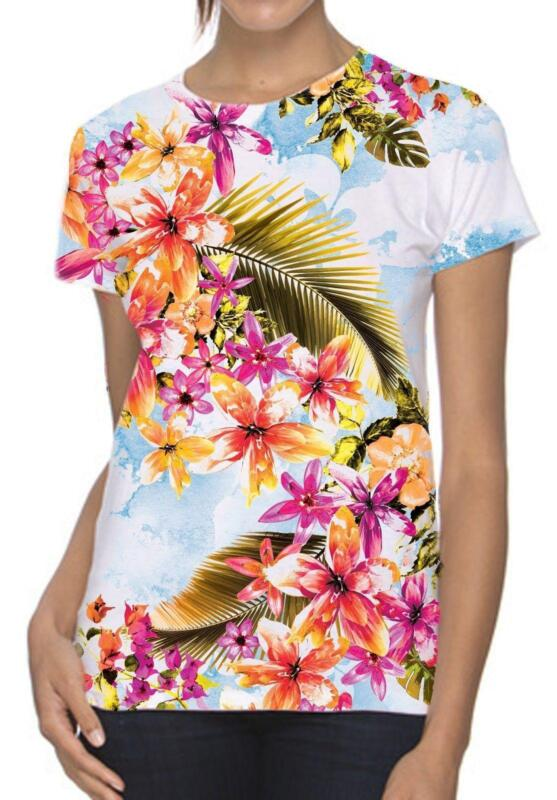 Hawaiian womens t shirts ebay for Hawaiian graphic t shirts