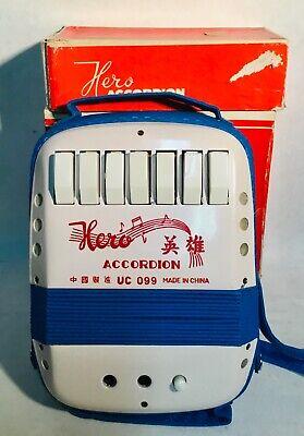 HERO Accordion vintage mini childrens jouet toy spielzeug in Original box