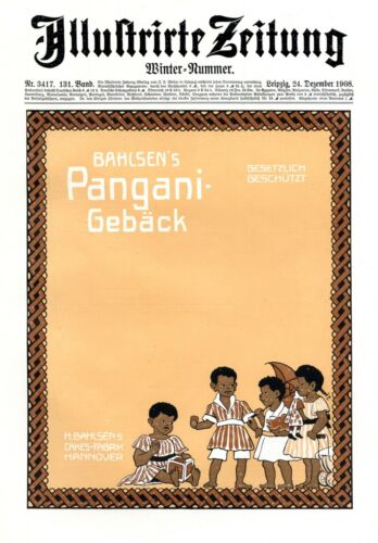 Bahlsen Pangani Biscuit XL 1909 ad advertising black children african Africa