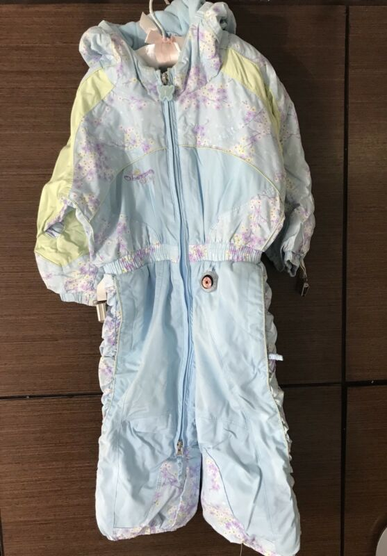 Obermeyer Girls Ski Suit Size 2 Light Blue
