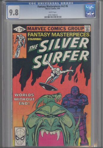 """Fantasy Masterpieces V2 #6 CGC 9.8 1980"""" Worlds without End""""  Silver Surfer"""
