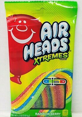 Air Heads Extremes Rainbow Berry Sweetly Sour Candy Airheads 4.5 oz - Airhead Extreme