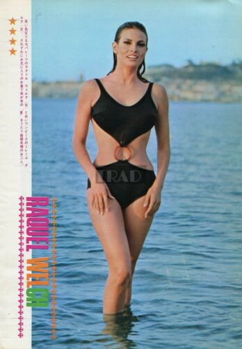RAQUEL WELCH Swimsuit/ MYLENE DEMONGEOT 1967 Japan Picture Clipping 8x11 lh/t