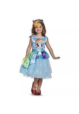 Rainbow Dash My Little Pony Costume (My Little Pony RAINBOW DASH Halloween Dress Up Costume Girls Size Small)