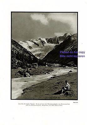 Krimmler Tauern 1929 XL Fotoabb. Simonyspitzen Berge Österreich Dreiherrenspitze