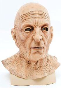 MENS OLD MAN MASK LINED WRINKLE NECK LATEX FULL OVERHEAD FANCY DRESS COSTUME NEW