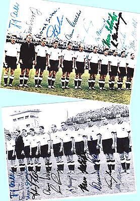 WM Deutschland 1954 - 2 AK Bilder - Print Copies + 3 AK Fotos WM 1954 signiert