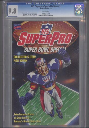 NFL Superpro Special #1  CGC 9.8 Marvel 1991 Origin Issue  Comic: Super Pro