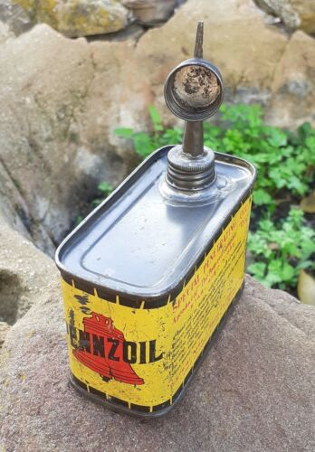 VINTAGE SMALL PENNZOIL SPECIAL PENETRATING OIL CAN USA