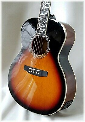 Acoustic/electric beauty ( Sunburst ) DILLION- Limited -Folk size Only 1 Left !